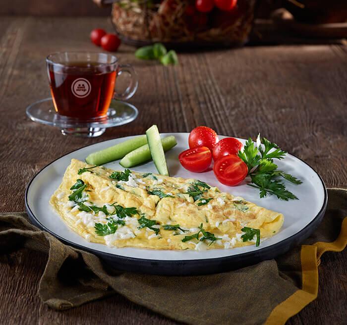 Peynirli Maydanozlu Omlet